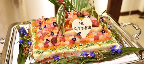 ちらし寿司ケーキ 写真