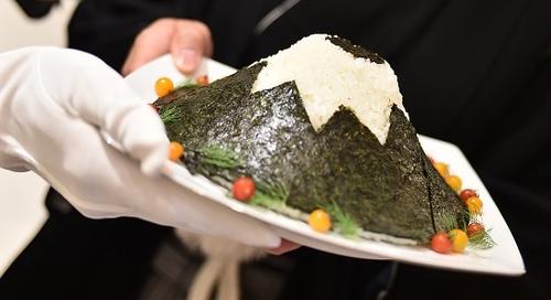 富士山をイメージしたおにぎり 写真