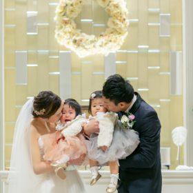 Natural family wedding